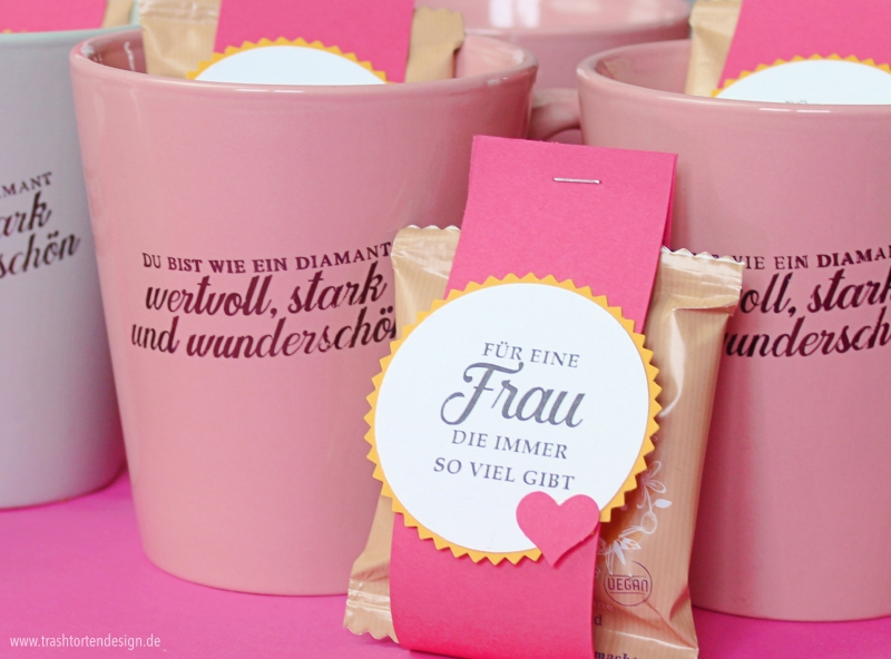 Tassen bestempeln, wie ein Diamant, Stampinup, Frauentag, Muttertag, Geschenk, Teamtreffen